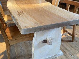 栃木一枚板テーブルの画像