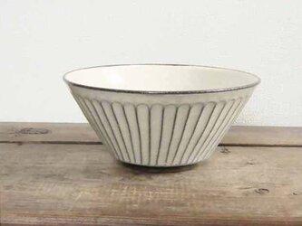 しのぎ手白い切立鉢(透明)/オーダー受付可の画像