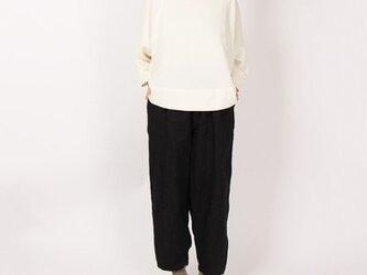9番手綾織りリネンピエロパンツ(ブラック)の画像