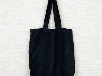リネントートバッグ(ブラック)の画像