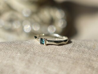 Ripples ring ☆ Blue Tourmaline 《ブルートルマリンのさざなみリング》の画像