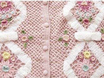 【5着限定】お花たっぷり ウール・ セーター ニット JND0102の画像