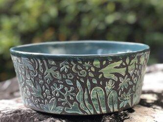 Kakiotoshi Large bowl - 二羽の鳥の画像