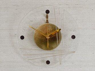 ラインフュージングのガラス電波時計の画像