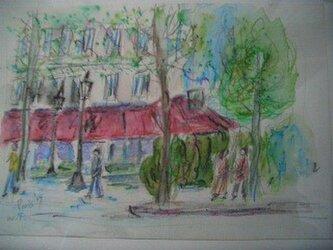 パリの街角の画像