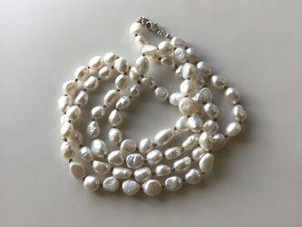 淡水パールのロングネックレス No.3【受注制作】 / バロック, 淡水真珠の画像