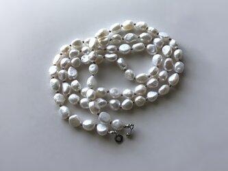 淡水パールのロングネックレス No.3 / バロック, 淡水真珠の画像