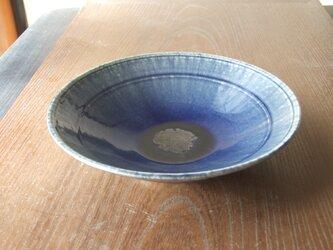 孔雀釉薬鉢 の画像