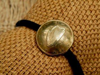 #H168  Ireland Coin Hair Elasticの画像