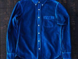 正藍染フランネルシャツ Lsizeの画像