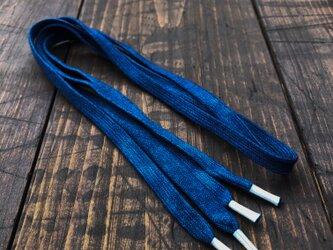 正藍染シューレース 120㎝の画像