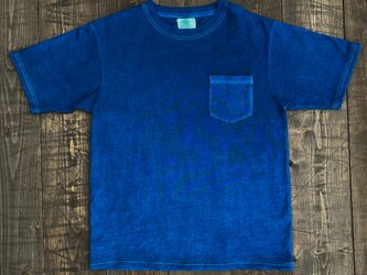 正藍染ポケットTシャツ Lsizeの画像