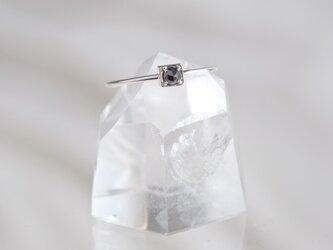 black diamond ring:ブラックダイヤモンド シルバーリング silver925 フリーサイズの画像