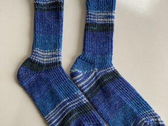 手編み靴下【Opal  KFS907   月夜の海】の画像