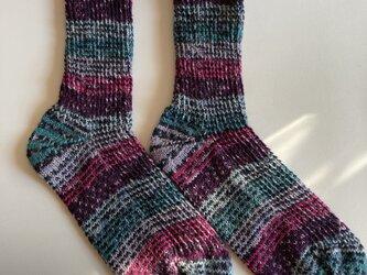 手編み靴下【Katia 東京 83】の画像