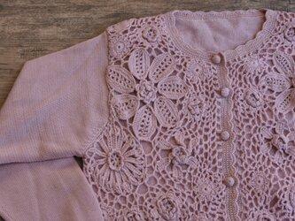 【1着限定】お花たっぷり ウール・ セーター ニット JND090の画像