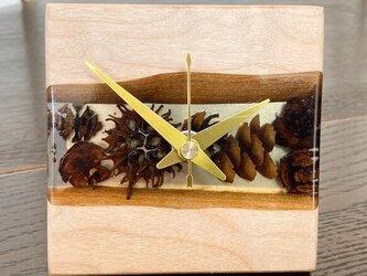 木の実の小物時計(ハードメープル)の画像