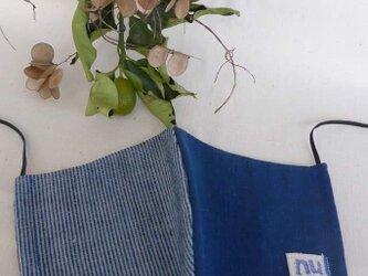 久留米絣のハーフムーンマスクの画像