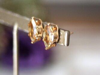 大粒*シトリン14kgf 宝石質天然石 ピアス 誕生日 クリスマス プレゼント シンプル パワーストーンの画像