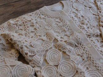 【1着限定】お花たっぷり ウール・ セーター ニット JND091の画像
