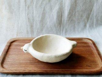 白い小鳥皿の画像