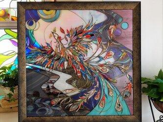 額装壁掛けグラスアート『テンペスト』の画像