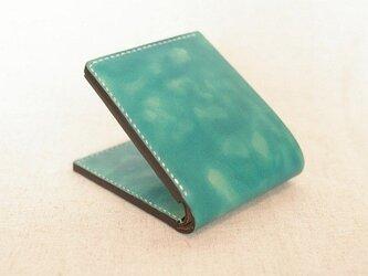 二つ折り財布 《Peacock Green&Navy Blue》の画像