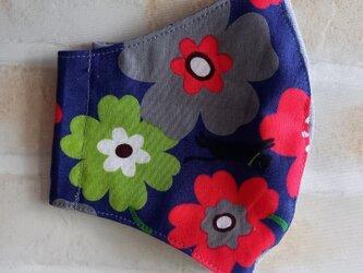立体マスク(お花と猫)の画像