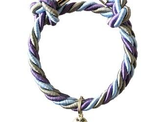 Sesame Purple Puppy or Catcollar Charm(パピー用/猫用 首輪 チャーム,セサミパープル)の画像