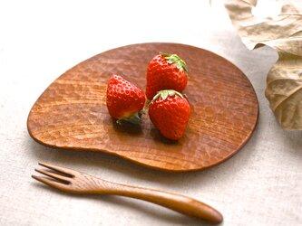 花びらの木皿(ケヤキ)の画像