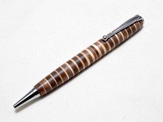 【寄木】(試作品) 手作り木製ボールペン スリムライン CROSS替芯の画像