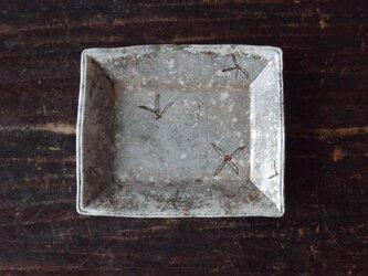 粉引スクエアプレート(長 赤い実)の画像