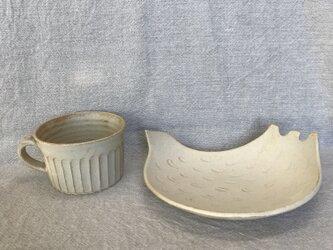 *福袋 ベージュのとり皿(大)とマグ(2点セット)の画像