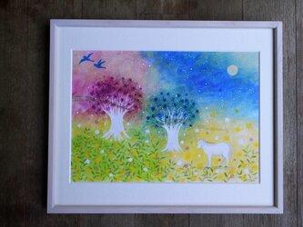 絵画「星と森の言霊」の画像