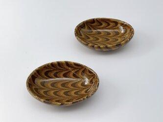 練込み楕円豆皿2個セット uzuraの画像