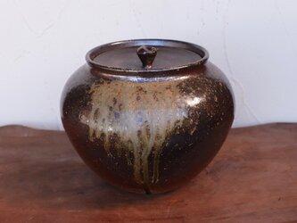 備前焼 瓶(蓋付き) ta-003の画像