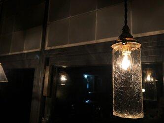八角細筒瓶 クラック (照明)の画像