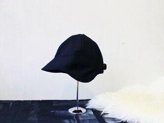 DEERCAP | FLANNEL WOOL c/#BLACK【S:50~55cm】の画像