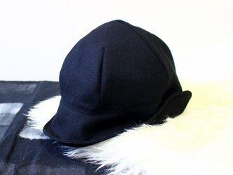 DEERCAP | FLANNEL WOOL c/#BLACK【M:56~59cm】の画像