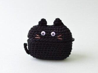 黒猫ちゃん AirPods Proケース|あみぐるみ シリコンケース付の画像