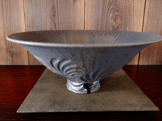 いぶし金彩テーブル火鉢セット1の画像