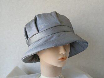 魅せる帽子☆【SALE!!】あったか♪キルト綿入りクロッシュ~グレーの画像