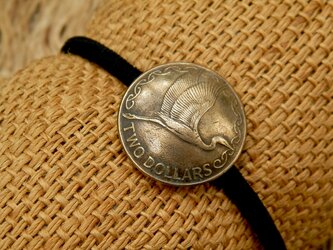 #H84 New Zealand Coin Hair Elasticの画像