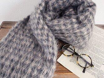 イタリア製 モヘア アルパカ 羊毛ウール 厚 ベージュ ナチュラル 良品質 ストール ショールの画像