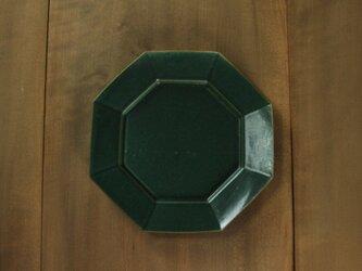 オクタングルリムプレート8寸/緑の画像