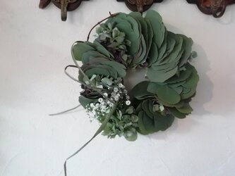 wreath-ユーカリと紫陽花の画像