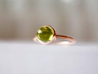 K10[夏摘みオリーブのペリドット]ringの画像