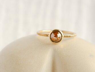 Caramel Brown Diamond Ringの画像