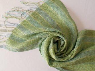草木染め 手織りシルクストール ST36の画像
