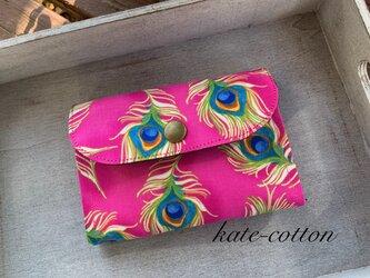 ■お買い得!☆ミニ財布⭐︎ロラライ・ハリス⭐︎孔雀の羽根・ピンクの画像